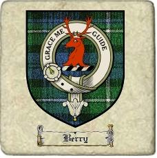 Berry Clan Badge Marble Tile