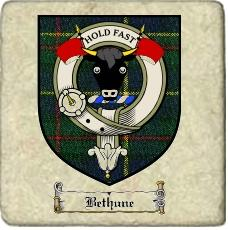 Bethune Clan Macleod Clan Badge Marble Tile
