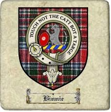 Binnie Clan Badge Marble Tile