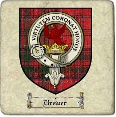 Brewer Clan Badge Marble Tile