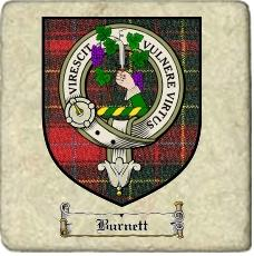 Burnett Clan Badge Marble Tile