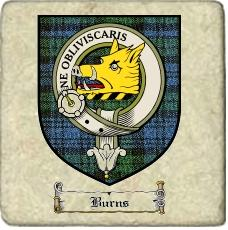 Burns Clan Badge Marble Tile