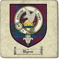 Byers Clan Badge Marble Tile
