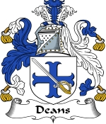 Deans Family Crest / Deans Coat of Arms JPG Download