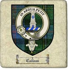 Callam Clan Malcolm Clan Badge Marble Tile