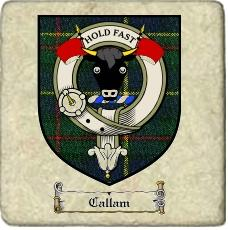 Callam Clan Badge Marble Tile