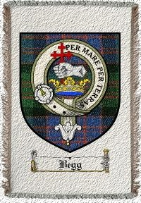 Begg Clan Macdonald Clan Badge Throw Blanket