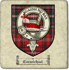 Carmichael Clan Macdougall Clan Badge Marble Tile