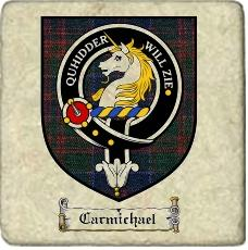 Carmichael Clan Stewart Appin Clan Badge Marble Tile