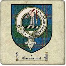 Carmichael Clan Badge Marble Tile