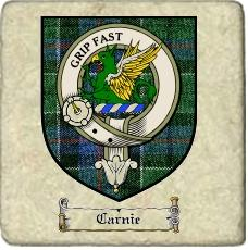 Carnie Clan Badge Marble Tile