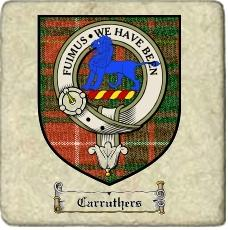 Carruthers Clan Badge Marble Tile