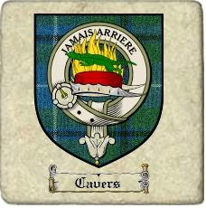 Cavers Clan Badge Marble Tile