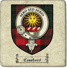 Cessford Clan Badge Marble Tile