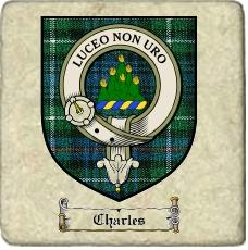 Charles Clan Badge Marble Tile
