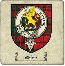 Chiene Clan Badge Marble Tile