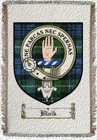 Blaik Clan Badge Throw Blanket