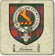 Clarkson Clan Macintosh Clan Badge Marble Tile