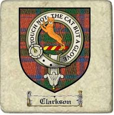Clarkson Clan Mackintosh Clan Badge Marble Tile