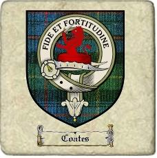 Coates Clan Badge Marble Tile