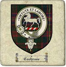 Cochrane Clan Badge Marble Tile