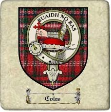 Coles Clan Badge Marble Tile