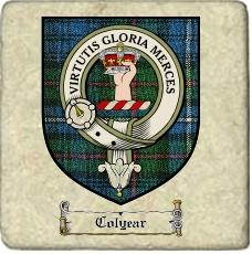 Colyear Clan Badge Marble Tile