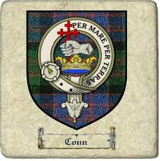 Conn Clan Badge Marble Tile