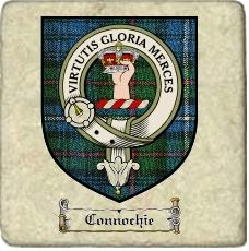 Connochie Clan Robertson Clan Badge Marble Tile