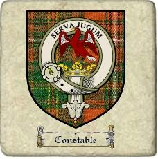 Constable Clan Badge Marble Tile