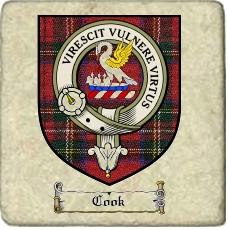Cook Clan Stewart Clan Badge Marble Tile