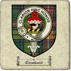 Cousland Clan Badge Marble Tile