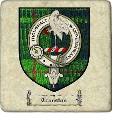 Cranston Clan Badge Marble Tile