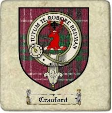 Crauford Clan Badge Marble Tile