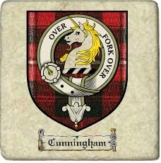 Cunningham Clan Badge Marble Tile