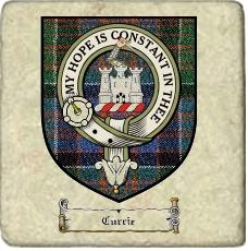 Currie Clan Badge Marble Tile