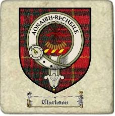 Clarkson Clan Badge Marble Tile