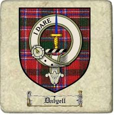 Dalyell Clan Badge Marble Tile