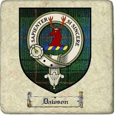 Dawson Clan Badge Marble Tile