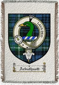 Arbuthnott Clan Badge Throw Blanket