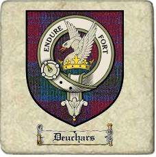 Deuchars Clan Badge Marble Tile