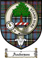 Anderson Clan Macdonald Clan Badge / Tartan FREE preview