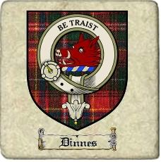 Dinnes Clan Badge Marble Tile