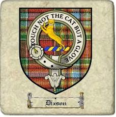 Dixson Clan Badge Marble Tile