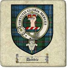 Dobbie Clan Badge Marble Tile