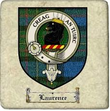 Laurence Clan Badge Marble Tile