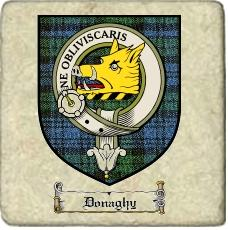 Donaghy Clan Badge Marble Tile