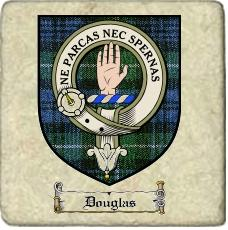 Douglas Clan Lamont Clan Badge Marble Tile