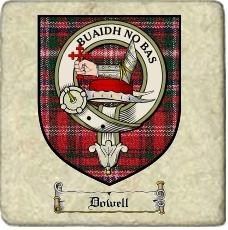 Dowell Clan Badge Marble Tile