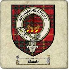 Dowie Clan Badge Marble Tile
